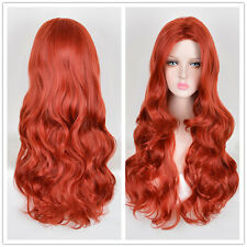 Orange Red Copper wig Wavy Curly Hair Products Wigs Popular Women Long Wigs