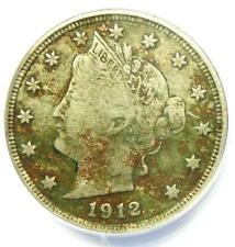 1912-S Liberty Nickel 5C - ANACS VF20 Details - Rare Key Date Certified Coin!