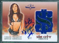 Benchwarmer 2012 Maria Kanellis Sin City Autographed Swatch Card [ 6/7 ]