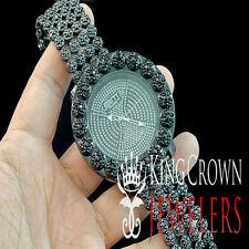 Mens Bling Master Joe Rodeo Flower Bezel Custom Iced Out Band Custom Watch Black