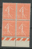 SEMEUSE FX de MARSEILLE Bloc de 4 N°199 bord de feuille N** Cote 220€ A1275