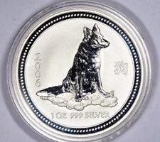 1 oz Australia 2006 Lunar Series l (Year of the Dog) 999 Silver Coin
