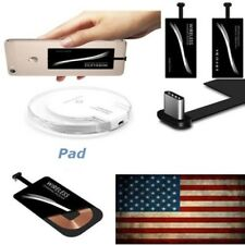 Qi Wireless Charger Charging Pad Receiver Kit Adapter For iPhone & Type C Port