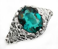 2CT Apatite 925 Solid Sterling Silver Victorian Style Ring Jewelry Sz 8 U-35