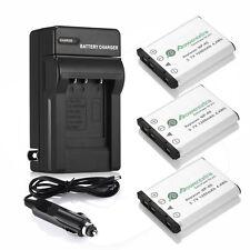3x NP-45 NP-45A Battery + Charger For Fuji FinePix XP10 XP60 XP70 J10 J40 J100