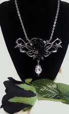 ALCHEMY NECKLACE BACCHANAL ROSE GOTHIC ROISIN DUBH BLACK ROSE JEWELLERY PENDANT