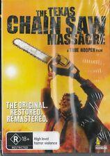 THE TEXAS CHAIN SAW MASSACRE - ORIGINAL RESTORED- TOBE HOOPER - NEW & SEALED DVD