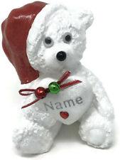 Personalised Christmas Teddy Bear Grave Memorial Ornament Baby Garden Tribute