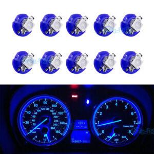 10Pcs Blue B8.4D 5050 SMD For BMW Dodge Benz Dashboard Gauge Cluster LED Light
