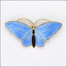 Norwegian Silver Enamel Butterfly Brooch - AKSEL HOLMSEN