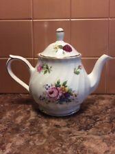 Staffordshire Royal Victorian Floral Rose Coffee Pot/Teapot Fine Bone China