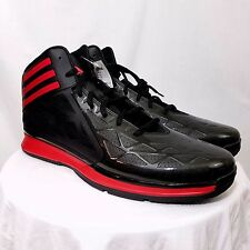 Adidas Crazy Fast 2 Basketball Shoes D74195 Black Red Mens Size US 20 EUR 54.5