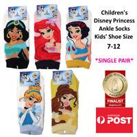 CHILDREN'S Disney Princess Ankle Socks MADE IN KOREA SINGLE PAIR