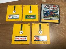 Nintendo Famicom Disk system Lot Twin Bee Baseball Wrestling Volleyball