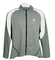 Cannondale Mens XL Lightweight Gray White Full Zip Cycling Jacket
