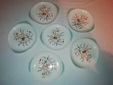 SET OF 6 Wedgwood Tiger Lily Soup Bowl Saucers Very Good Condition