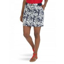 Lee Riders Women's Mid Rise Utility Skort Size 6M Blue Floral Color NEW W Tags