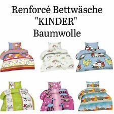 Renforce Kinder / Baby Bettwäsche 2tlg Garnitur 100 x 135 cm viele Designs