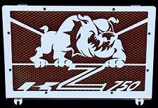 cache / Grille de radiateur inox poli Kawasaki Z750 04>06 Bulldog + grill orange