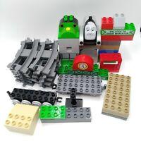 Lego Duplo Train Lot 43 Pcs Gray Track Thomas Part Spencer Percy Trucks Waterton