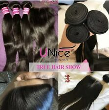 UNice Indian Hair Straight Hair 100% Virgin Hair 100g/Bundle Human Hair 4 Bundle