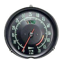 1969 1971 Corvette Tachometer Mechanical 6000 Redline New