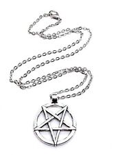 Inverted Pentagram Pentacle LaVey Satan Baphomet Satanism Chain Pendant