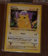 POKEMON CARD CARTE 58/102 PIKACHU 1999 MINT AWESOME !