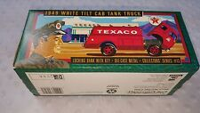 Ertl Texaco 1949 White Tilt Cab Tank Truck Die-Cast Metal Locking Bank New