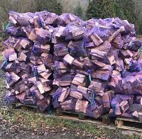 Eco Hard Fire Wood Logs Kiln Dried Seasoned Burner Fuel Kindling 18kg/6kg Netted