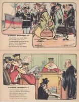POLITIC PROPAGANDA SATIRE AFFAIRE HUMBERT set 10 Vintage Postcards pre-1940