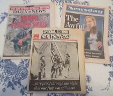 3- COMPLETE NEWSPAPERS FROM SEPT. 13, 2001. COVERAGE OF THE WTC COLLAPSE.