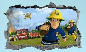 Fireman Sam,Sticker,3d,Decal,Children's,Bedroom,Kids,Wall Art,Mural
