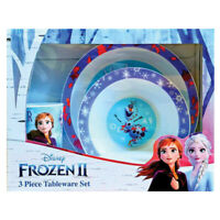 Disney Frozen 2 Elsa Anna Olaf 3 Piece Childrens Dinner Plate Bowl Cup Set