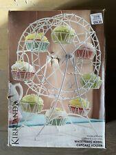 (2) White Ferris Wheel 8 Cupcake Holder