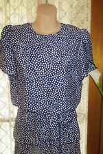 VINTAGE 80'S does 20'S ~ DAVID ~ Angle Tiered Skirt Spots DRESS * Size  10 *