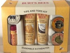 Burt's Bees 6 Piece Set Tips and Toes Kit Hand Foot Cream Lemon Butter Almond