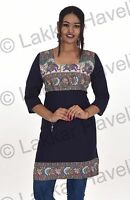 Indian Designer Women Ethnic Top Tunic plus size Elephant print 100% Cotton