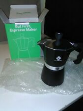 New listing Vremi Stovetop Expresso Maker, Moka pot Black