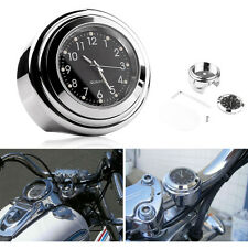 """7/8"""" 1"""" Universale Impermeabile Manubrio Mount Dial Orologio Per Bici Moto"""