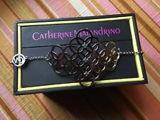 Sterling Silver Diamond Accent Toggle Bracelet ~ Catherine Malandrino