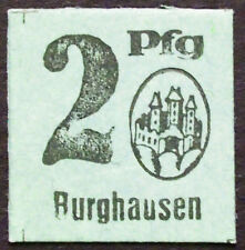 Burghausen 1920 very small 2 Pf rare cardboard circulating German Notgeld