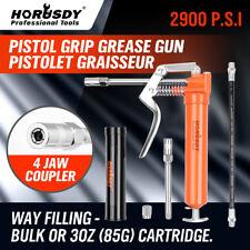2-WAY Mini Grease Gun Manual Pistol Grip With 3OZ Cartridge Flexi Hose & Coupler