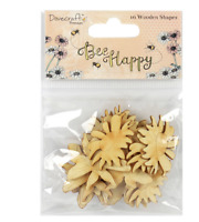 Bee Happy - Lasercut & Engraved Wooden Embellishments - Dovecraft - 16 Shapes