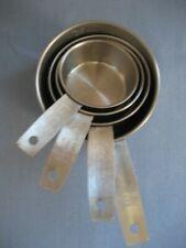Set of 4 Vintage EKCO Stainless Steel Metal Measuring Cups Complete