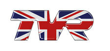 TVR Union Jack Gel Domed Self Adhesive Badge 100 x 37mm