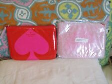 Kate Spade New York  Cosmetic Bag New Red and Pink 6 1/2 x 4 1/2