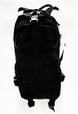 Zaino tattico Softair Nero 9 tasche con CamelBack incorporato