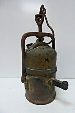 ANTIQUE OLD BRASS PREMIER LAMP CO CRESTELLA LEEDS CARBIDE MINERS LANTERN