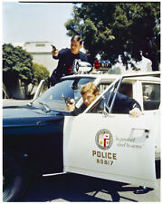 ADAM 12 Kent McCord Martin Milner firing gun Police Car 4x5 Color Photo NEGATIVE